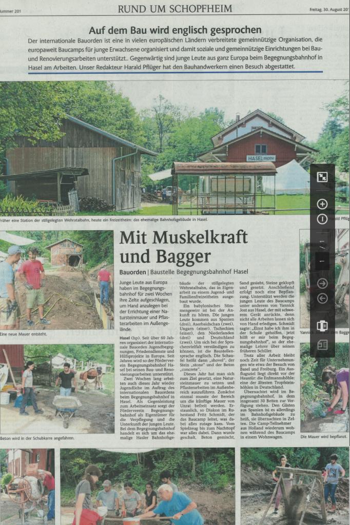 Artikel aus der Badischen Zeitung